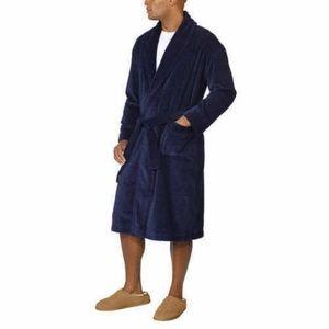 Majestic Men's Waffle Terry Cotton Velour Robe